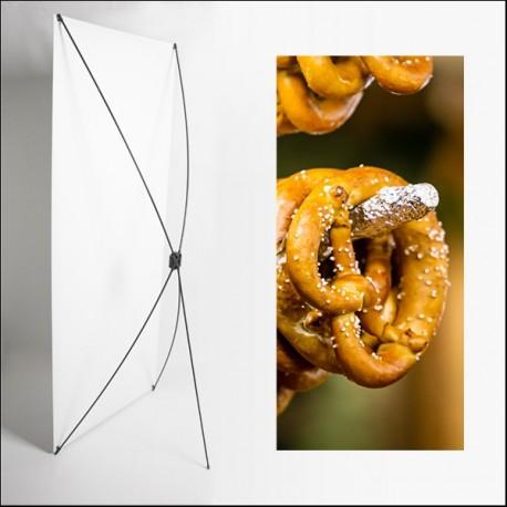 Kakemono Alsace - Bretzel - 180 x 80 cm - Toile M1 avec structure  X- Banner