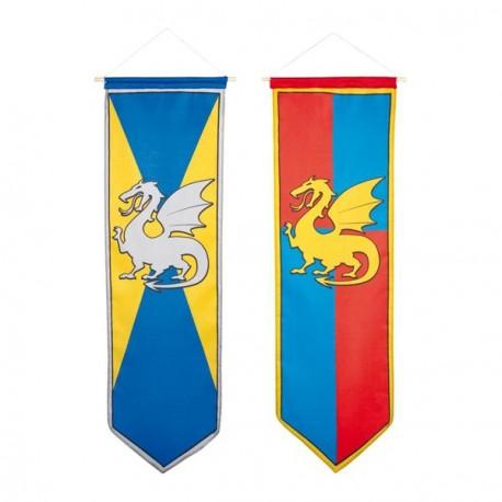 Oriflamme dragon medieval 30 x 100 cm
