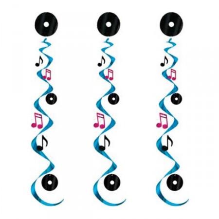 Set de 3 suspension musique - haut: 75 cm