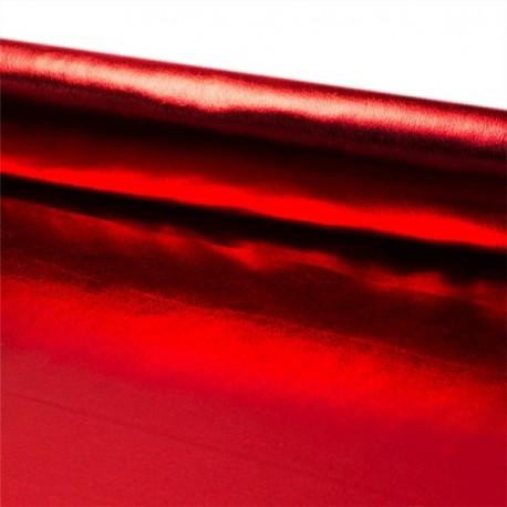 Tissu lamé rouge larg 110 cm