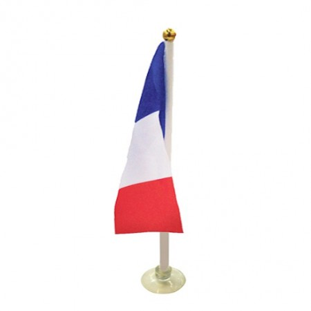 Drapeaux France de table + support x 10