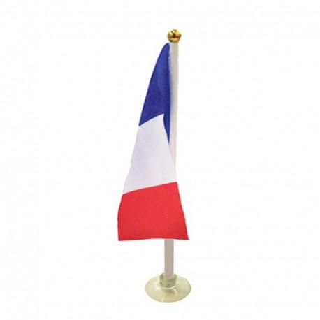 Drapeaux France de table + support x 10