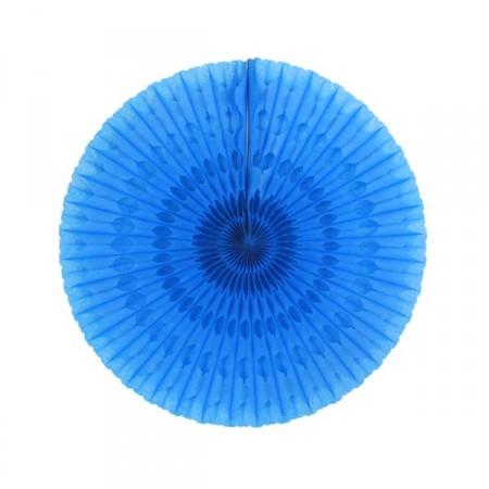 Eventail bleu marine - papier - Diam. 50 cm