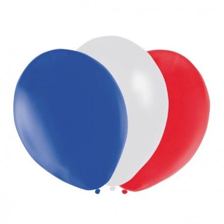 Ballon Bleu Blanc Rouge  x 12 - Diam. 29cm