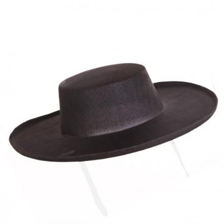 Chapeau terroir - feutre noir - taille adulte