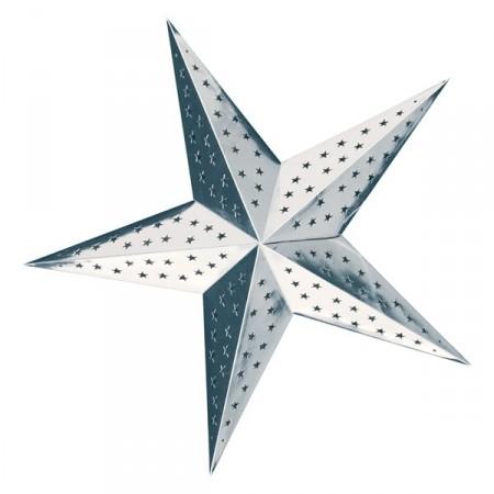 Etoile Argent à suspendre - carton - Diam 60 cm
