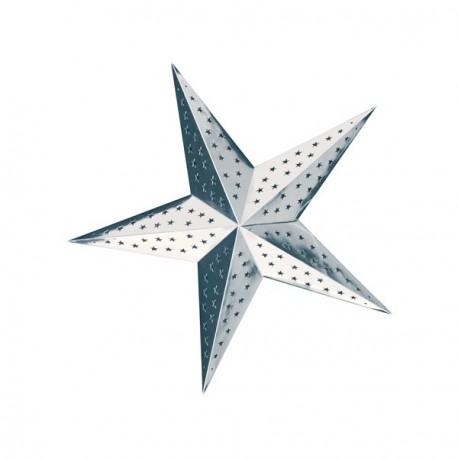 Etoile Argent à suspendre - carton - 60 cm