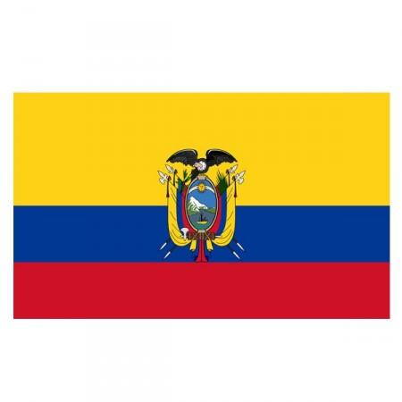 Drapeau Equateur - tissu - 90 x 150cm