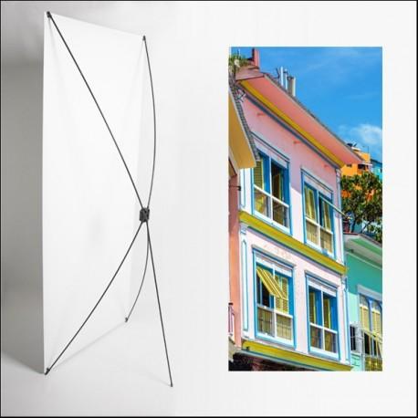 Kakemono AMS facade  - 180 x 80 cm - Toile M1 avec structure  X- Banner