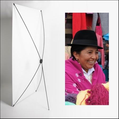 Kakemono AMS femme chapeau  - 180 x 80 cm - Toile M1 avec structure  X- Banner