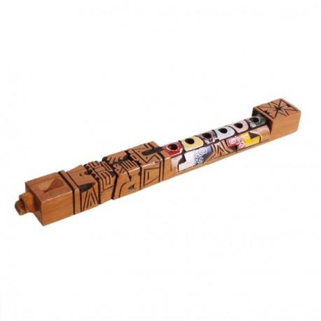Flute Tarcas - Artisanat d'Amerique du Sud - Bois - 31 cm