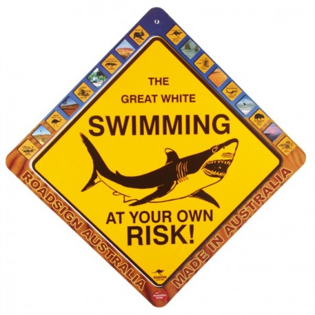 Road Sign Kangourou ou Requin - pvc - 38 x 38cm