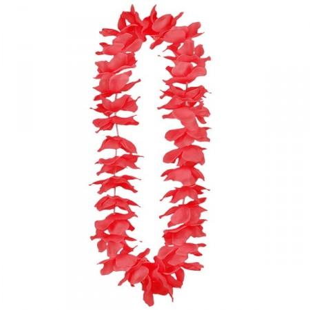 Colliers de fleurs rouges x 12 - tergal