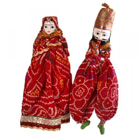 poupées x 2 - tissu - H. 50cm