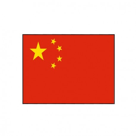 Drapeau Chine - tissu - 60 x 90 cm