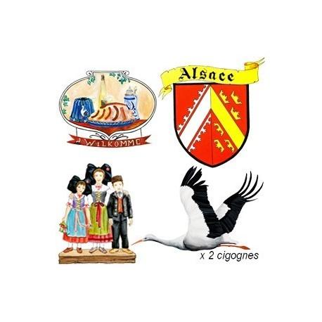 Set de 5 décors Alsace - carton