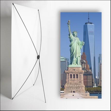 Kakemono USA  Statue  liberte - 180 x 80 cm - Toile M1 avec structure  X- Banner
