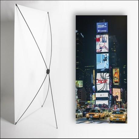 Kakemono USA Panneaux  - 180 x 80 cm - Toile M1 avec structure  X- Banner