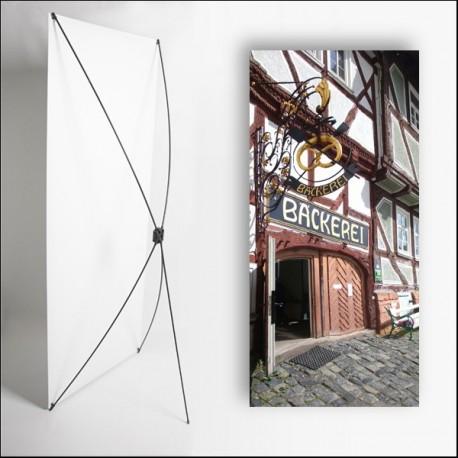 Kakemono Allemagne 4 - 180 x 80 cm - Toile M1 avec structure  X- Banner