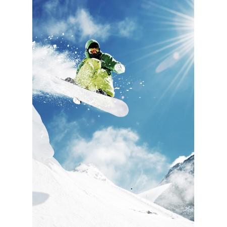 Affiche montagne sport d'hiver - papier - 50 x 70 cm