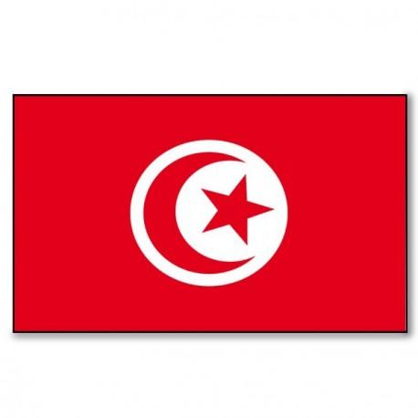 Drapeau Tunisie - tissu - 90 x 150 cm