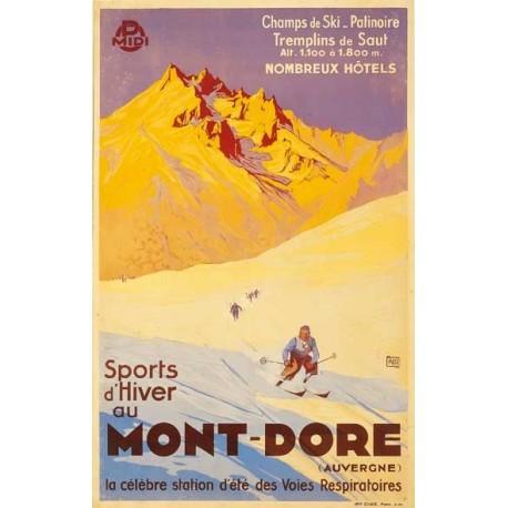 Affiche Auvergne - 50 x 70cm (nouveau visuel)