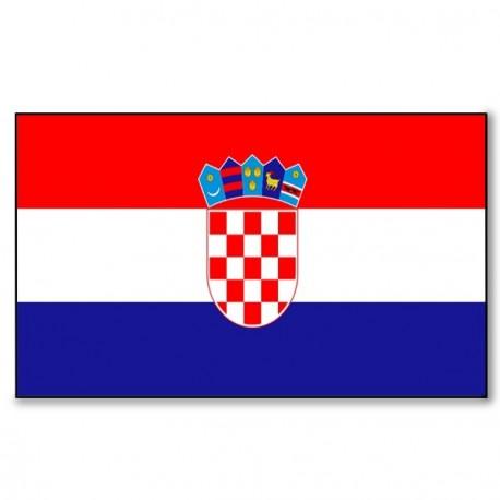 Drapeau Croatie - tissu - 90 X 150 cm