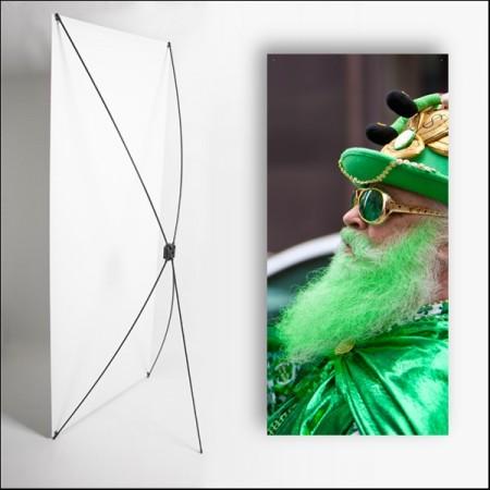 Kakemono Irlande Barbe verte  - 180 x 80 cm - Toile M1 avec structure  X- Banner
