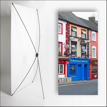 Kakemono Irlande Maisons  - 180 x 80 cm - Toile M1 avec structure  X- Banner