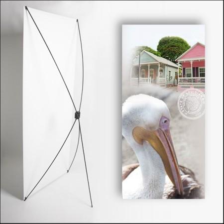 Kakemono Louisisane Pelican - 180 x 80 cm - Toile M1 avec structure  X- Banner