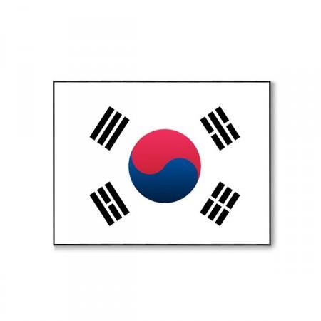 Drapeau Corée du Sud - tissu - 60 x 90 cm