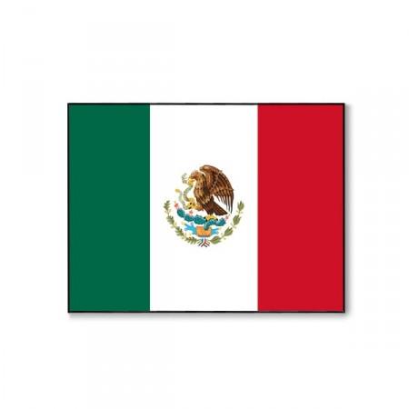 Drapeau Mexique - tissu - 60 x 90cm