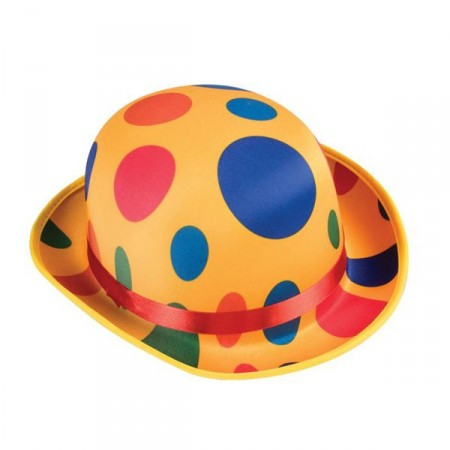 Chapeau de clown a pois en feutrine