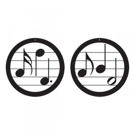 Mobile x2 note de musique diam: 24 cm - carton