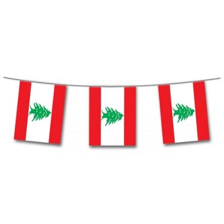 Guirlande Liban  - 10 fanions 21 x 30 cm - papier - Long.420cm