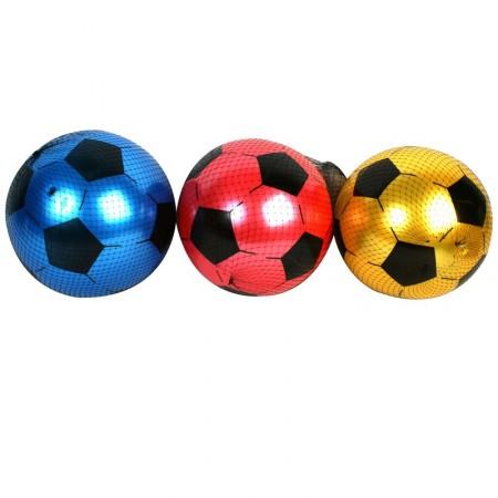 Ballon de foot  - PVC Blanc / Noir - Diam 21.5 cm
