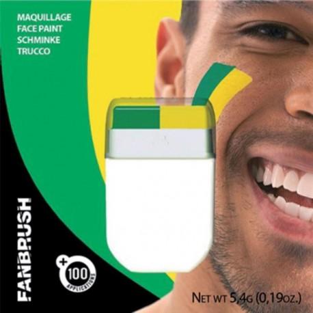Maquillage vert et  jaune