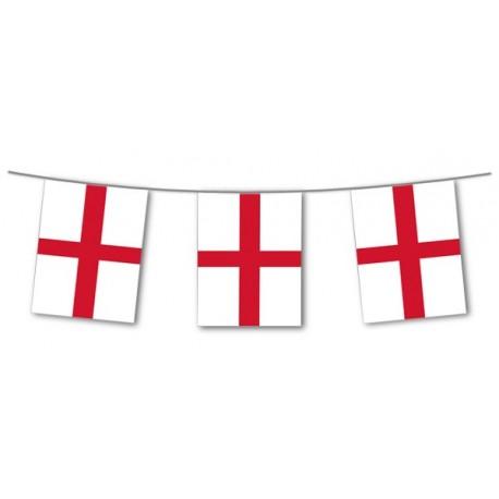 Guirlande Angleterre  - 10 fanions 20 x 30 cm - papier - Long.420cm