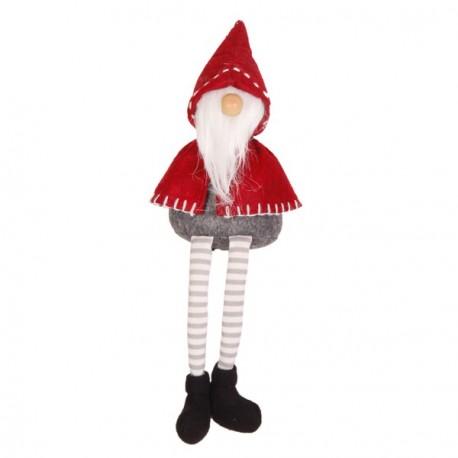 Père Noël Bonnet  et  Longue Barbe (Cape Rouge - assis)  17 x 15 x 58
