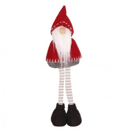 Père Noël Bonnet  et  Longue Barbe (Cape Rouge - debout) 11 x 11 x 39