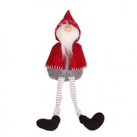 Père Noël Bonnet  et  Longue Barbe (Cape Rouge - assis) 12 x 10 x 42