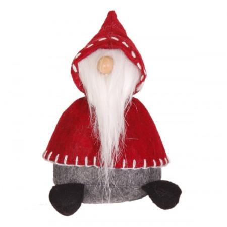 Père Noël Bonnet  et  Longue Barbe (Cape Rouge - assis)  12 x 10 x 20