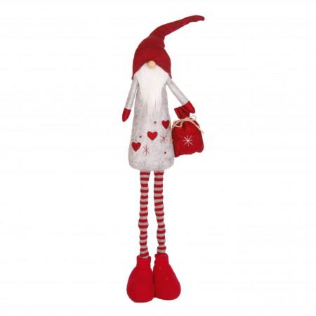 Père Noël Bonnet  et  Longue Barbe (Sac Rouge - debout téléscopique)  25 x 12 x 106