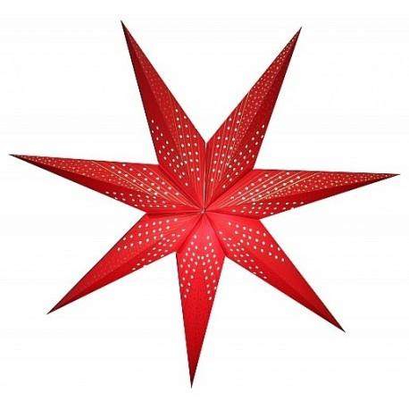 Grande étoile rouge avec motif Etoile ajouré - papier - 80cm