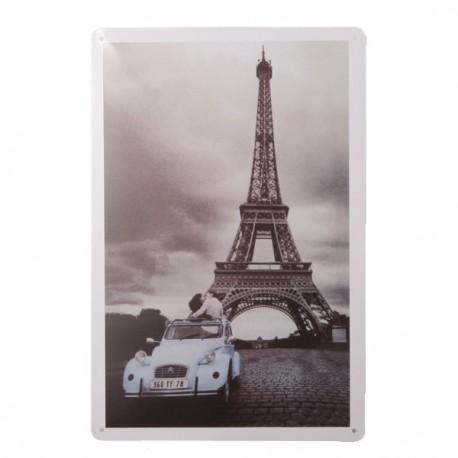 Plaque Métal TOUR EIFFEL - 20 x 30cm