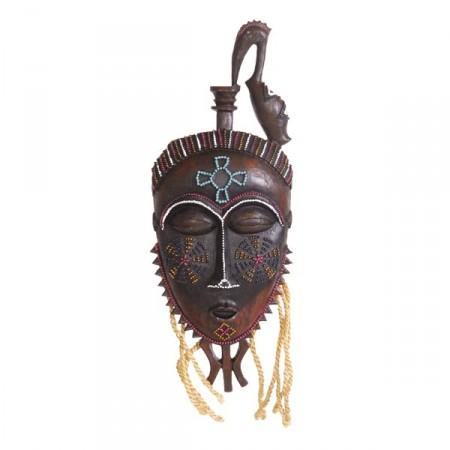 Masque Africain - Résine / Corde H.40 x 15cm