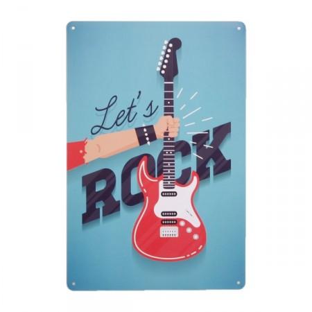 Plaque Métal ROCK - 20 x 30cm