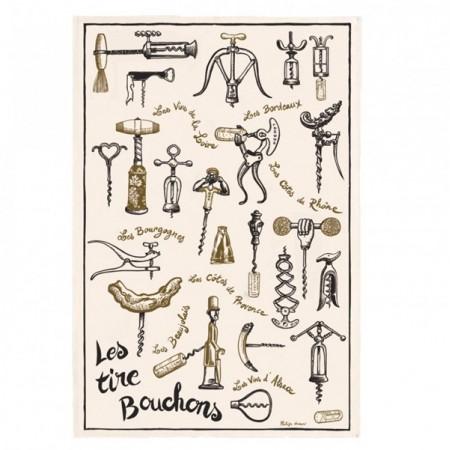 Tissu Imprimé Les Tire-Bouchons  - Coton - 48 x 72 cm