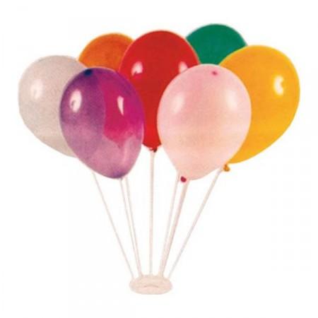Socle + 7 tiges pour bouquet de ballons avec ballons