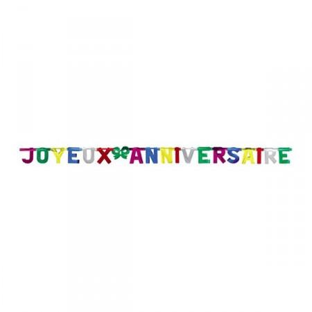 Guirlande Joyeux Anniversaire en lettre geante de 25 cm Long 450cm